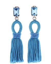 Oscar de la Renta - Capri Short Silk Tassel Earrings - Lyst