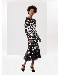 Oscar de la Renta - Embroidered Lace And Tulle Cocktail Dress - Lyst