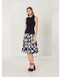Oscar de la Renta - Tossed Seaweed Stretch-cotton Skirt - Lyst