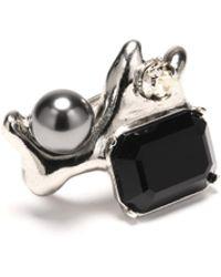 Oscar de la Renta - Jet Coral Crystal Ring - Lyst