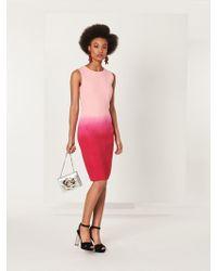 Oscar de la Renta - Dip-dyed Stretch-wool Pencil Dress - Lyst