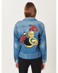 Oscar de la Renta - Lobster Embroidered Denim Jacket - Lyst