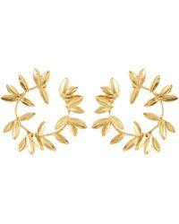 Oscar de la Renta - Dot Leaf Earrings - Lyst