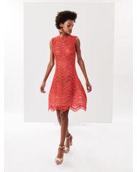 Oscar de la Renta - Wave Guipure Lace Cocktail Dress - Lyst