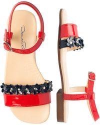 Oscar de la Renta - Patent Leather Strap Sandal - Lyst