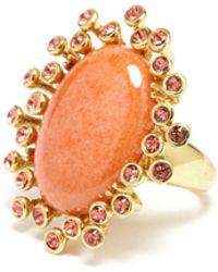 Oscar de la Renta - Dolomite Coral Ring - Lyst
