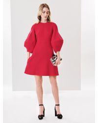 Oscar de la Renta - Stretch-wool Crepe Cocktail Dress - Lyst