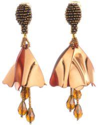 Oscar de la Renta - White Mini Impatiens Drop Earrings - Lyst