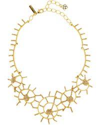 Oscar de la Renta - Shell Pavé Necklace - Lyst