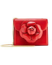 Oscar de la Renta - Crimson Leather Mini Tro Bag - Lyst