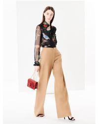 Oscar de la Renta - Cotton-twill Wide-leg Trousers - Lyst