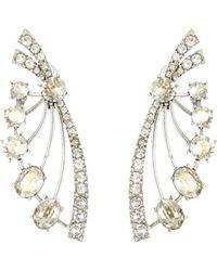 Oscar de la Renta - Crystal Fan Earrings - Lyst