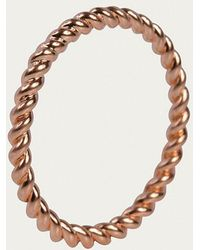 Davina Combe | Rose Gold Twist Ring | Lyst
