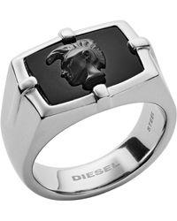 DIESEL - Fingerring »DX1175040« mit Achat - Lyst