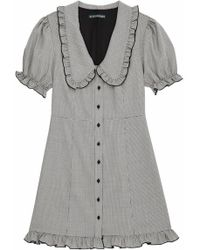 ALEXACHUNG - Check Babydoll Dress - Lyst