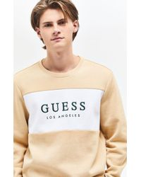 Guess - Roy Flc Crew Neck Sweatshirt - Lyst