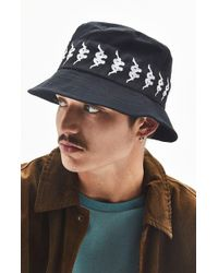 Lyst - Kappa Ayumen Bucket Hat in Black for Men 8d232a4c3cc1
