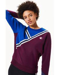 351b21915030 Champion - Reverse Weave Colorblock Sweatshirt - Lyst