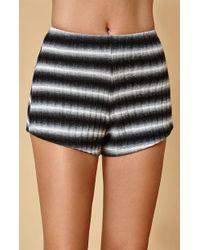 Honey Punch - Black & White Stripe Shorts - Lyst