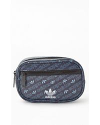 96f876a0925 adidas Originals Terry Waist Black Fanny Pack in Black - Lyst