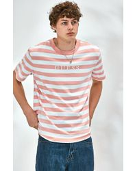 Guess - Stream Stripe Pink T-shirt - Lyst