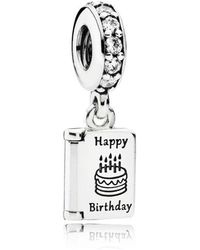 PANDORA - Birthday Wishes Pendant Charm - Lyst