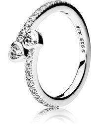 02ed9e0bdece1 Lyst - PANDORA Jewelry Forever Love Rose