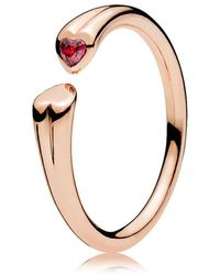 PANDORA - Two Hearts Ring - Lyst