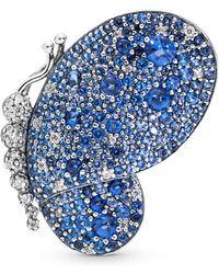 PANDORA Dazzling Blue Butterfly Brooch