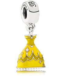 PANDORA - Disney, Belle's Dress Pendant Charm - Lyst