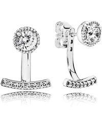 PANDORA - Abstract Elegance Stud Earrings - Lyst
