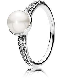 PANDORA - Elegant Beauty Ring - Lyst