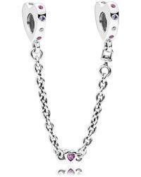 PANDORA - Bright Hearts Safety Chain - Lyst