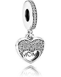 PANDORA - I Love My Mum Pendant Charm - Lyst