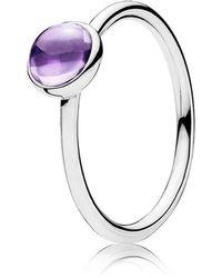 Pandora | Purple Poetic Droplet Ring | Lyst