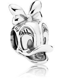 PANDORA - Disney, Daisy Duck Portrait Charm - Lyst