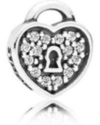 PANDORA - Lock Of Love Petite Locket Charm - Lyst