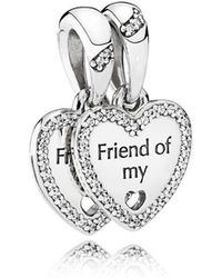 c70c4c275b9a2 Lyst - PANDORA Friendship Essence Collection Charm In Silver ...
