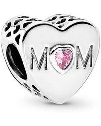 PANDORA - Mother Heart Charm - 791881pcz - Lyst