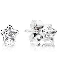 PANDORA - Star Shine Stud Earrings - Lyst