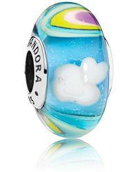 PANDORA - Iridescent Rainbow Glass Murano Charm - Lyst