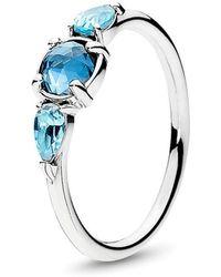 1076a5fd9 BaubleBar Ice Wrap Two-Finger Ring in Metallic - Lyst
