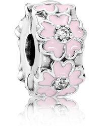 PANDORA - Pink Primrose Clip - Lyst