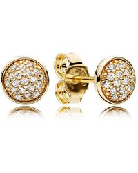 PANDORA - Dazzling Droplets Earrings - Lyst