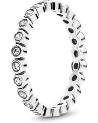 e69b9c3aa PANDORA - Alluring Delicate Brilliant Ring - Lyst