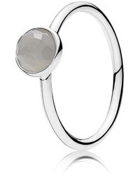 PANDORA - June Droplet Birthstone Ring - Lyst
