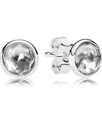 PANDORA - April Droplets Stud Earrings - Lyst
