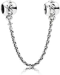 PANDORA - Family Ties Safety Chain - Lyst