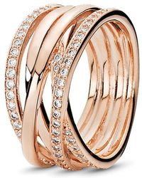 PANDORA - Entwined Ring - Lyst