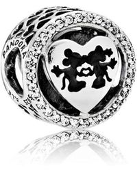 PANDORA - Disney, Mickey & Minnie Love Charm - Lyst